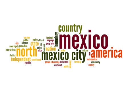 Mexico word cloud Stock Photo
