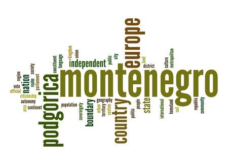 Montenegro word cloud