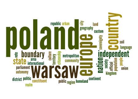 euro area: Poland word cloud