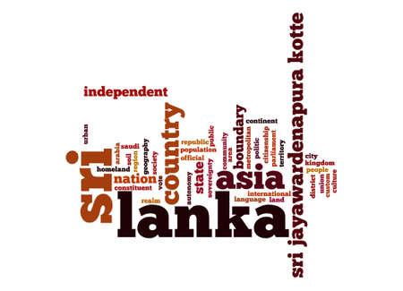 lanka: Sri Lanka word cloud