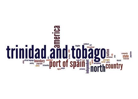 trinidad and tobago: Trinidad and Tobago word cloud Stock Photo