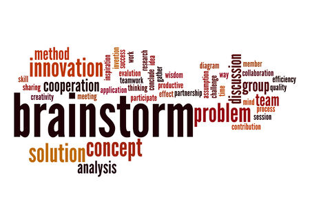 Brainstorm word cloud photo