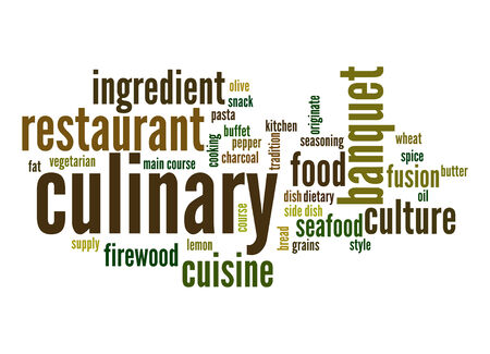 originate: Culinary word cloud
