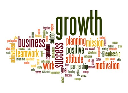 Growth word cloud Stock Photo - 27085840