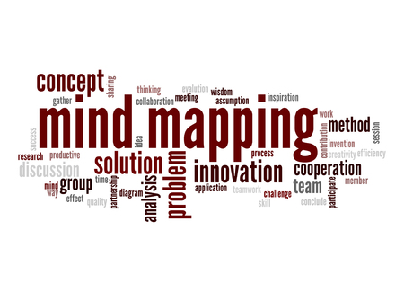 mapping: Mind mapping word cloud Stock Photo