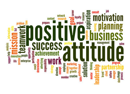 ethic: Positive attitude word cloud