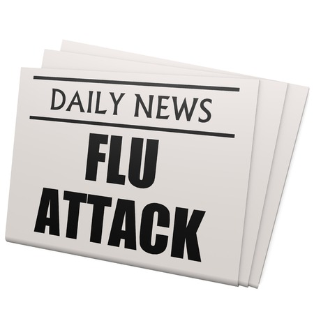 Newspaper flu attack photo