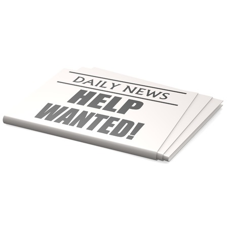 Newspaper help wanted photo