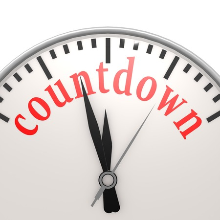 Countdown clock Standard-Bild
