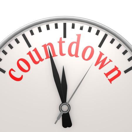 Countdown clock Foto de archivo