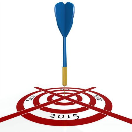 dart board: Dart board with  2015