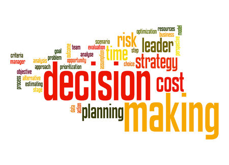 Decision marking word cloud photo