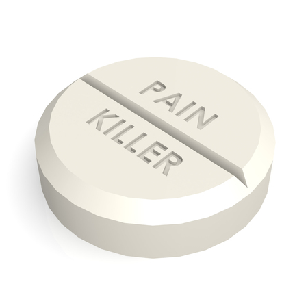 pain killer: Pill tablet pain killer Stock Photo