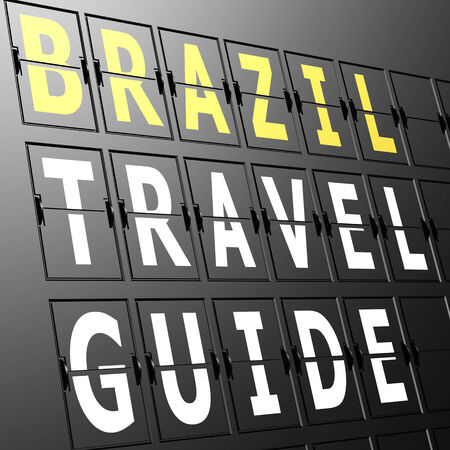 Airport display Brazil travel guide photo