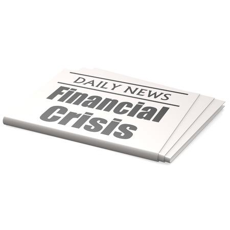 Newspaper financial crisis photo