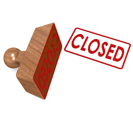 Closed stamp Stock Photo - 27489208