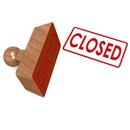 Closed stamp Stock Photo - 27489208