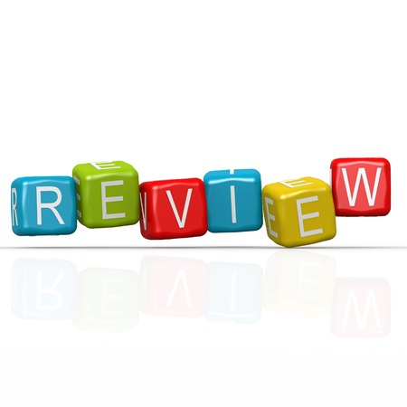 reassessment: Review buzzword Stock Photo
