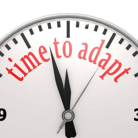 adapt: Time to adapt clock Stock Photo