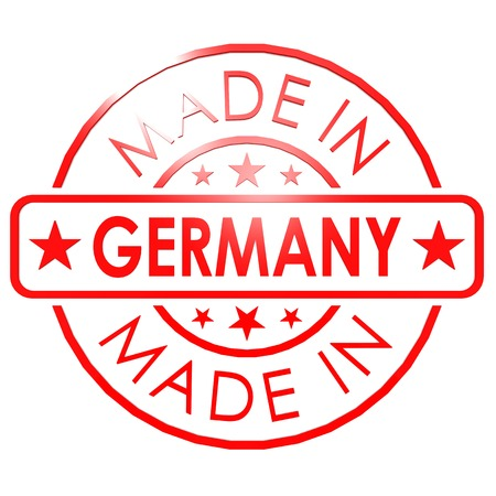 made in germany: Made in Germany red seal Stock Photo