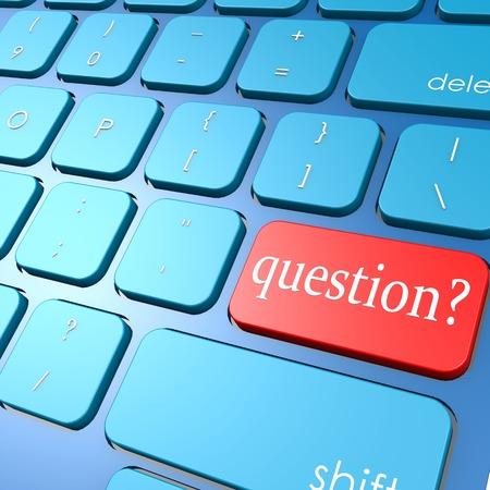 Question keyboard photo