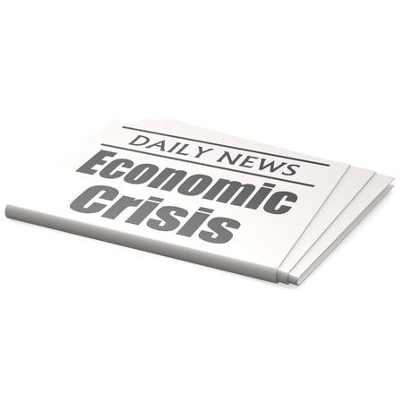 Newspaper economic crisis photo