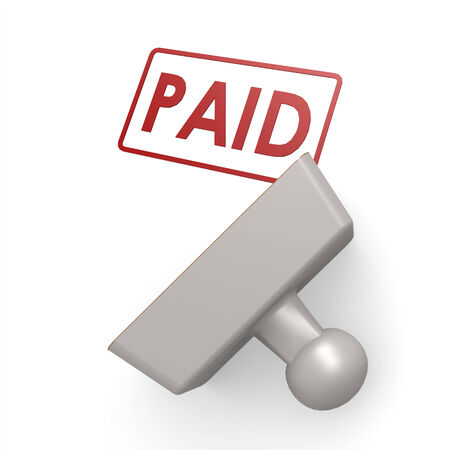 paid stamp: Paid stamp