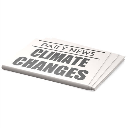 Newspaper climate changes photo