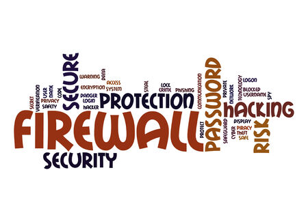 Firewall word cloud photo