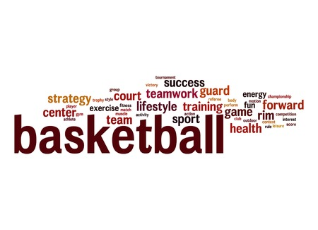 Basketball word cloud photo