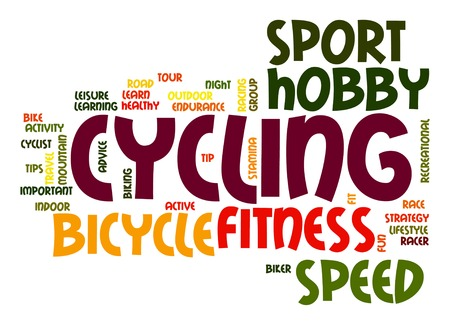 Cycling word cloud photo