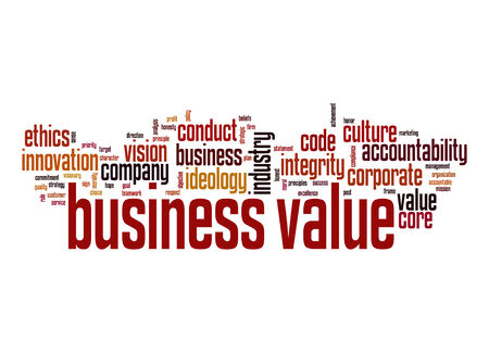 Business value word cloud photo