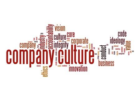 Unternehmenskultur Wortwolke Standard-Bild