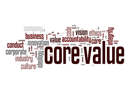 Core value word cloud photo
