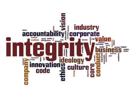 integridad: Integridad nube de palabras Foto de archivo