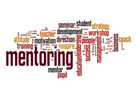 Mentoring word cloud photo