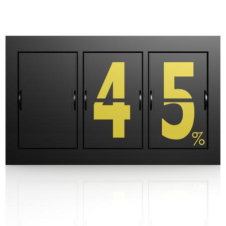 Airport display board 45 percent photo