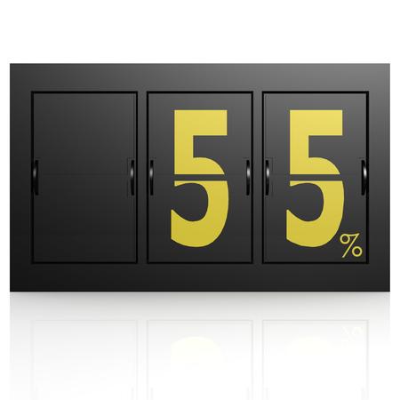 Airport display board 55 percent photo