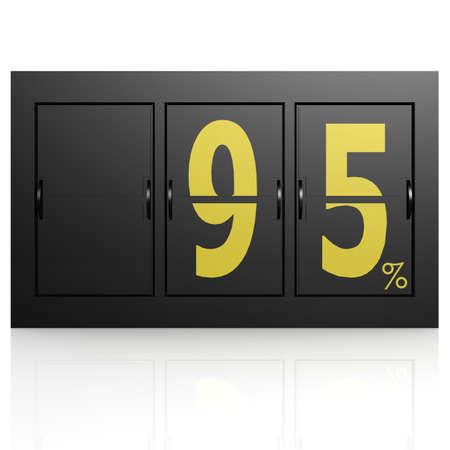 95: Aeroporto tabellone 95 per cento