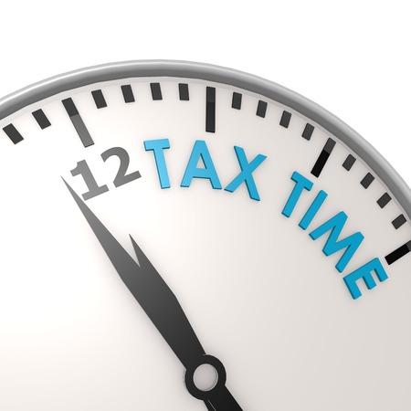Tax time clock photo