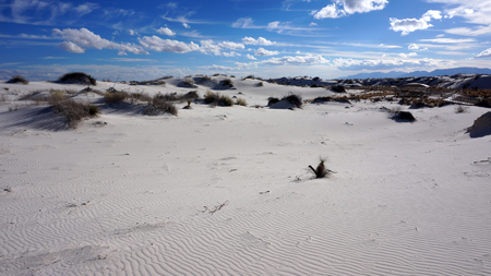 The White Sands desert is located in Tularosa Basin New Mexico photo