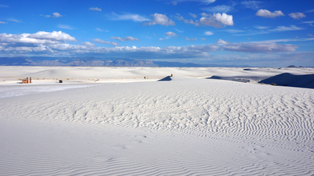 The White Sands desert is located in Tularosa Basin New Mexico. photo