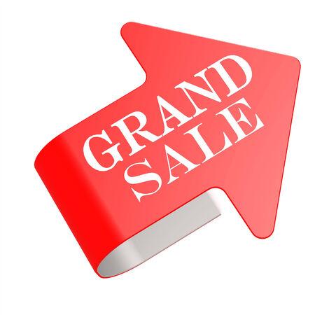 grand sale: Grand sale twist label Stock Photo