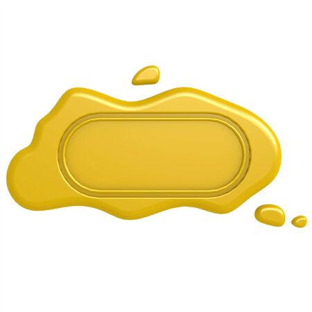 signatory: Oblong gold seal