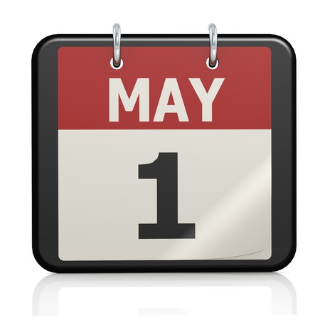May 1, Labour day calendar photo
