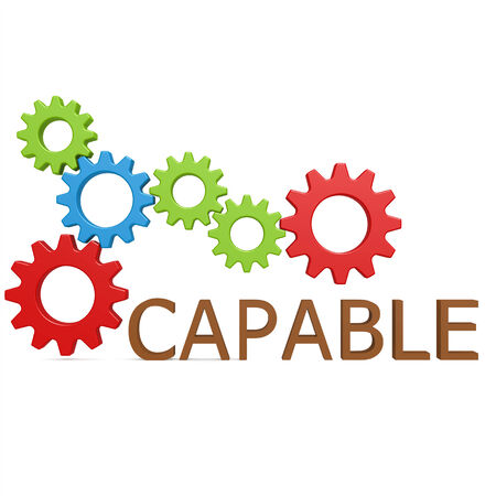 capable: Capable gear Stock Photo