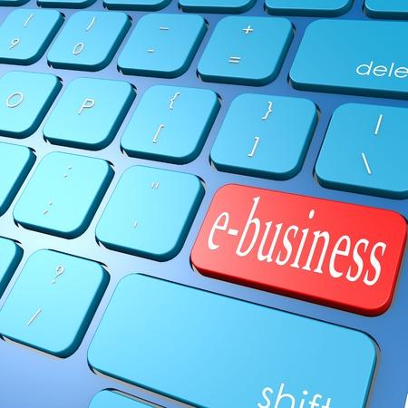 ebusiness: E-business keyboard Stock Photo
