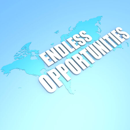 Endless opportunities world map Stock Photo - 29116492