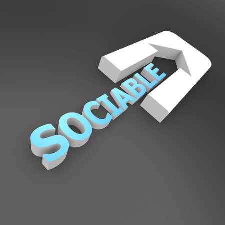 sociable: Freccia Sociable Archivio Fotografico