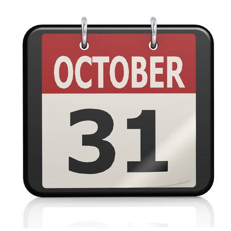 oct 31: 31 de octubre de calendario de Halloween Foto de archivo